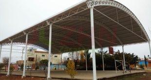Sinfra construye domos en espacios públicos y escuelas de Fresnillo