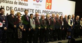 AMLO anunció a su gabinete para 2018: 8 mujeres y 8 hombres