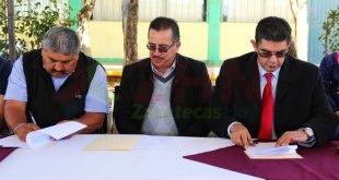 Firman convenio Cobaez y Ayuntamiento de Morelos para garantizar la seguridad de alumnado