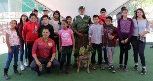 """Godezac lleva a hijas e hijos de migrantes a la Expo Militar """"Pasión por Servir a México"""""""