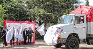 Parten camiones del Godezac con más de 3 millones de libros de texto gratuito para escuelas del estado