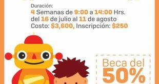 Invita gobierno Estatal a niños y jóvenes a participar en curso de verano Emprendebótica