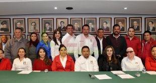 Presentan y toman protesta a nuevos secretarios del CDE del PRI