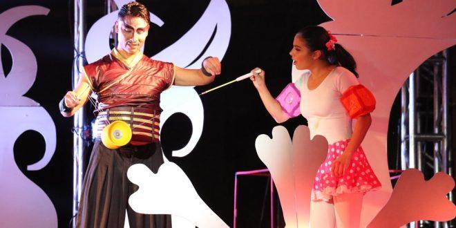 Estupenda actuación de la compañía jalisciense Circo Dragón, en el Festival de Navidad de Zacatecas