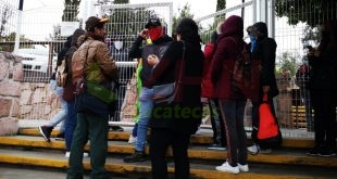 San Marqueños bloquearon el acceso a las instalaciones de la Secretaria de Educación en Zacatecas