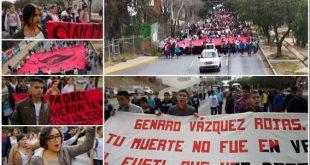 Normalistas -San Marqueños- recuerdan con marcha represión oficial en el año 2000
