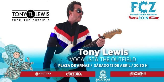 Tony Lewis, co-fundador de The Outfield en el FCZ 2019