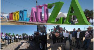 Instalan monumentos para delimitar zona territorial entre Miguel Auza y Juan Aldama