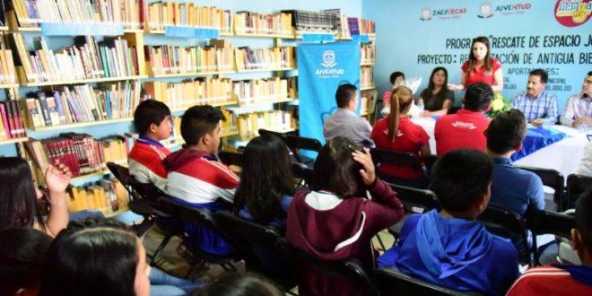 Rehabilita gobierno biblioteca pública de Juan Aldama