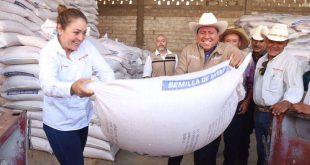Entrega David Monreal semilla de avena forrajera en 40 municipios a través del Crédito Ganadero a la Palabra