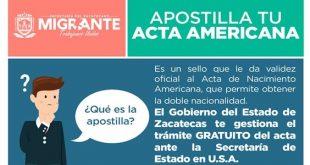 Ofrece Sezami trámite de apostille de actas americanas a hijos de migrantes zacatecanos nacidos en EEUU
