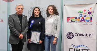 Reconoce gobierno de Zacatecas a adolescentes ganadoras en la Feria Nacional de Ciencias e Ingenierías 2019