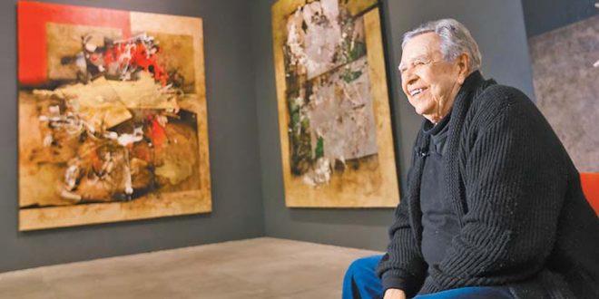 Manuel Felguérez dona su archivo y 38 obras a la UNAM