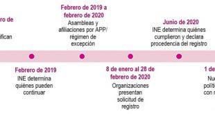 Continúan organizaciones en el proceso de constitución de Nuevos Partidos Políticos Nacionales
