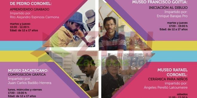 Niños y jóvenes recibirán talleres de arte en los museos de Zacatecas
