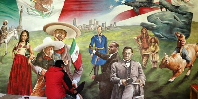 Artistas zacatecanos plasman alegoría méxico-estadounidense en su obra mural