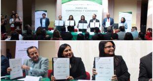 TRIJEZ firma Compromiso y Convenio para el registro de información sobre violencia política contra las mujeres