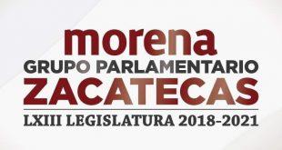 Comunicado del Grupo Parlamentario de Morena en la LXIII Legislatura de Zacatecas
