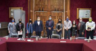Las y los diputados de la LXIII Legislatura se reunieron con el secretario de Seguridad Pública Ismael Camberos Hernández