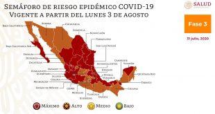 Zacatecas permanecerá en semáforo 🚦 rojo (Graficas)