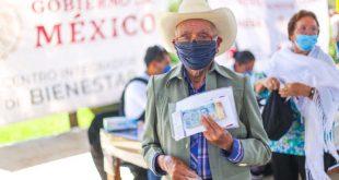 Concluye operativo de pago de Pensión para el Bienestar de Adultos Mayores