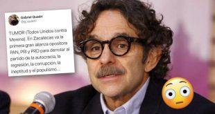 Quadri anuncia al TUMOR (Todos Unidos contra Morena); alianza en Zacatecas del PRI, PAN y PRD