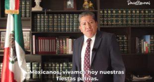 Mensaje de David Monreal con motivo de las fiestas patrias (Video)