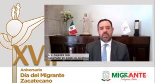 Refrenda Gobernador Tello su compromiso al fortalecimiento de la comunidad zacatecana migrante