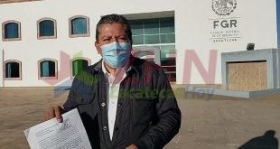 David Monreal presento denuncia ante la Fiscalía General de la República en Zacatecas por calumnias y difamacion en su contra (Video)
