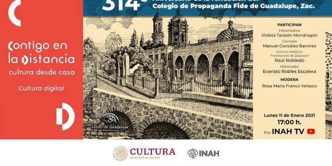 A 314 años de su fundación, analizan la importancia del antiguo Colegio de Propaganda Fide de Guadalupe, Zacatecas