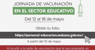 🔴 Comunicado importante al Sector Educativo del Estado de Zacatecas sobre Jornada de Vacunación