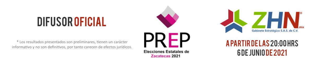 Difusor Oficial - PREP 2021 Zacatecas