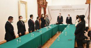 Alejandro Tello y David Monreal encabezan la instalación del Comité de Entrega-Recepción de la administración estatal